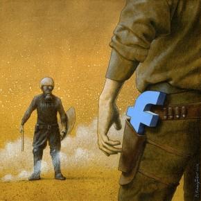 Artista faz ilustrações para criticar Facebook