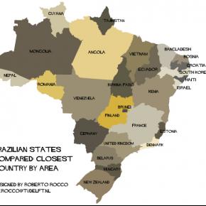 Quais países caberiam no Brasil?