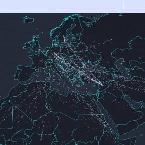 Mapa interativo mostra fluxo de refugiados para a Europa
