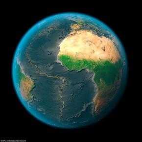 Vídeo mostra evolução das placas tectônicas