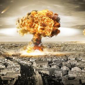 Simule o raio de destruição de uma bomba nuclear