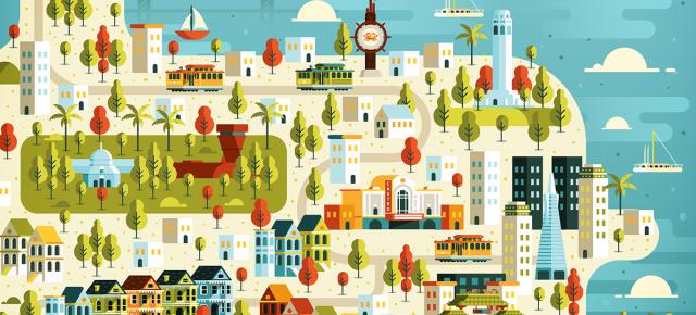 As cidades ilustradas de Aldo Crusher